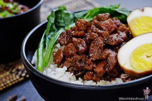 braised pork rice taiwan