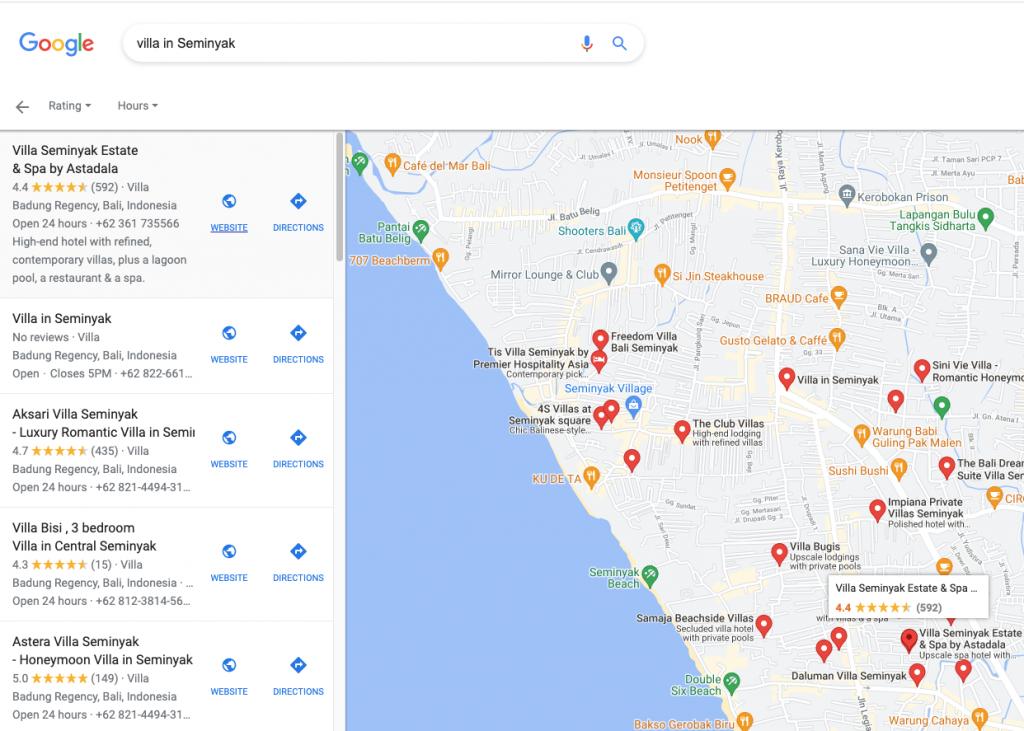 Google My Business Make Your Bali Villas Seminyak Visible to Potential Guests